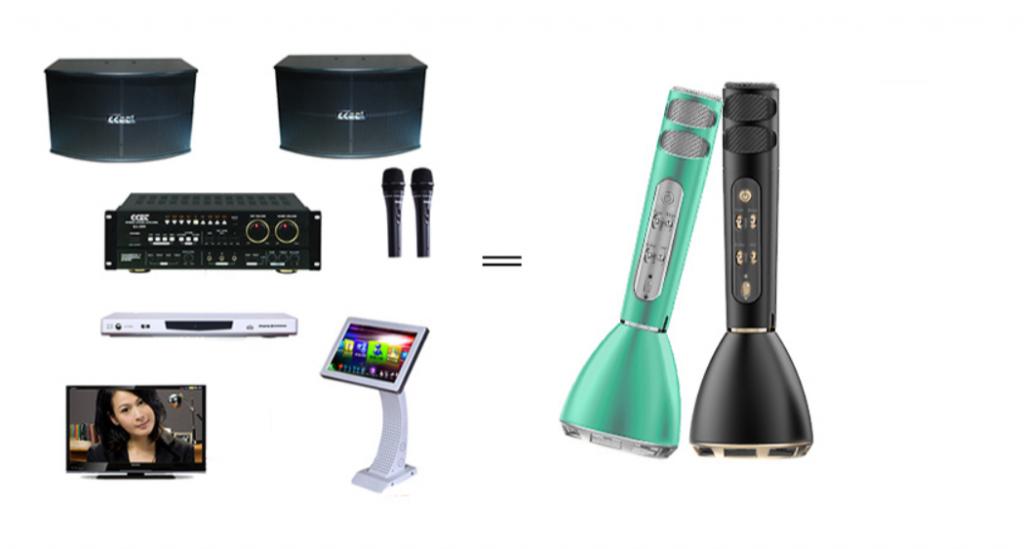海外华人K歌新潮流:无线投影同屏器+无线蓝牙麦克风,两步打造家庭KTV